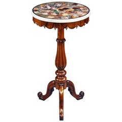 19th Century Specimen Marble-Top Mahogany Occasional Table