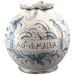 Ceramic Drug Jar or Syrup Jar, Possibly Italy, 18th Century
