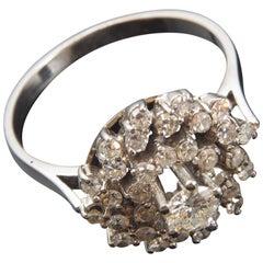 Diamond and White Gold Ring, 20th Century