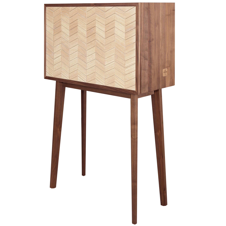 Walnut and Oak Changeable Cabinet, Desk, Sideboard or Bar