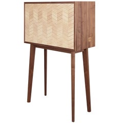 Walnut and Oak Changeable Cabinet, Desk, Sideboard or Bar