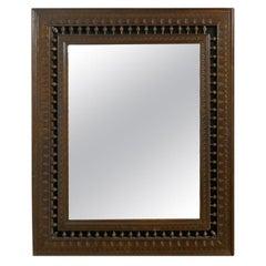 Pair of 19th Century French Bretton Oak Mirrors