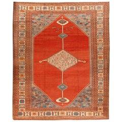 Antique Persian Bakshaish Rug, circa 1880