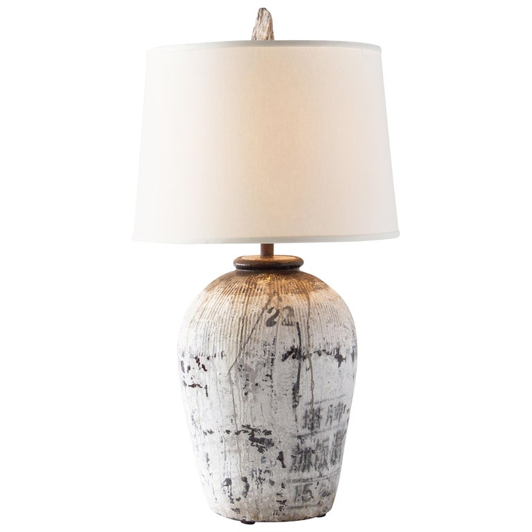Vintage Terracotta Lamp For Sale