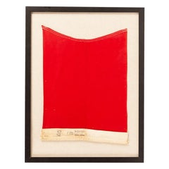 """Vintage Framed """"B"""" Signal Flag"""