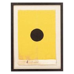 """Vintage Framed """"I"""" Signal Flag"""
