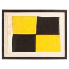 """Vintage Framed """"L"""" Signal Flag"""