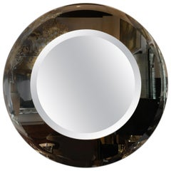 Sophisticated Modernist Custom-Made Starfire Mirror with Concentric Circles