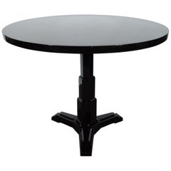 Art Deco Machine Age Skyscraper Style Black Lacquer/Enamel Dining/Center Table