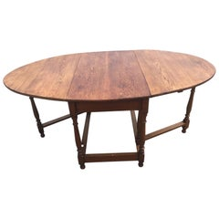 Early 20th Century French Oak Gate Leg Table, 1900s