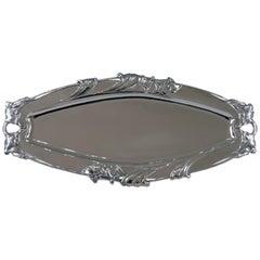 Silver Austrian Art Nouveau Serving Platter Length Viennna, circa 1900