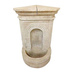Hand Carved Limestone Corner Fountain