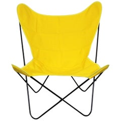 Mid-Century Modern Knoll Style Iron Butterfly Chair