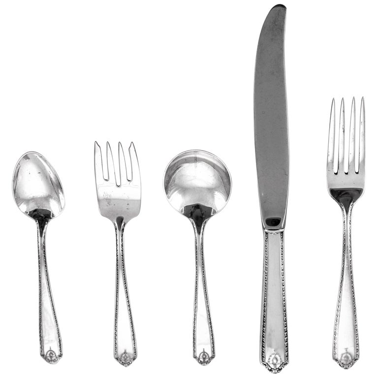 Sterling Flatware '5 Piece Setting Service for 24' For Sale