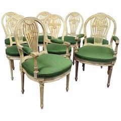 Set of 8 Maison Jansen Style Dining Chairs