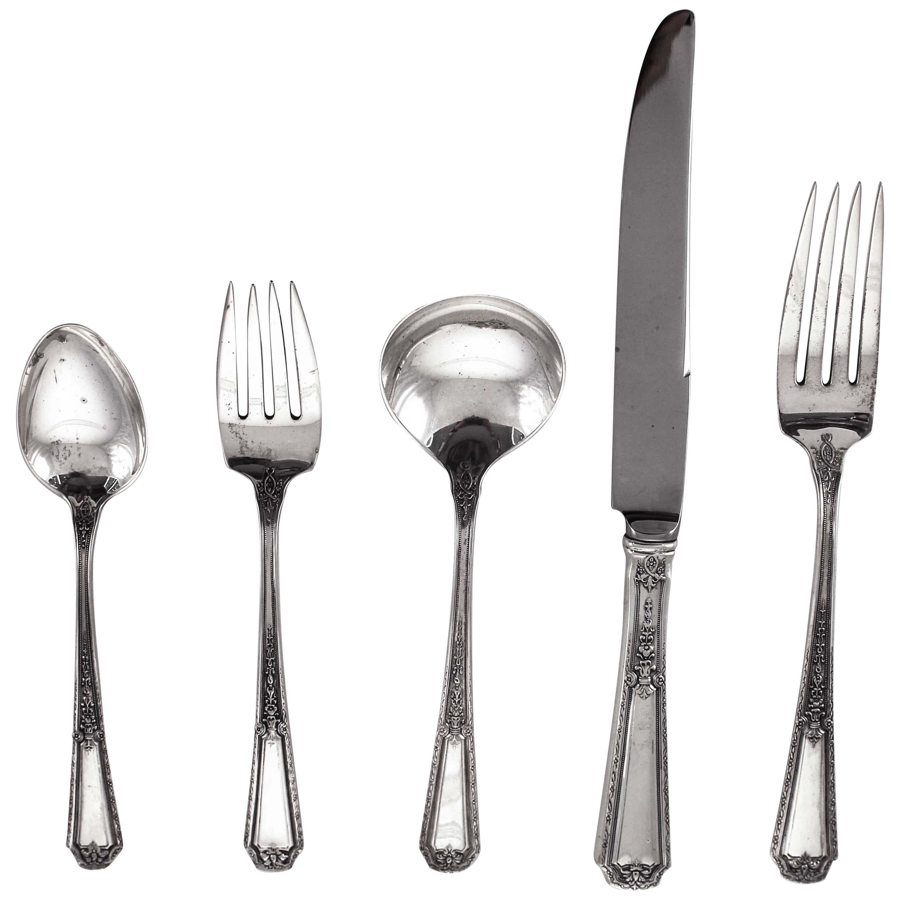 Sterling Flatware Service for 18/5 piece Setting