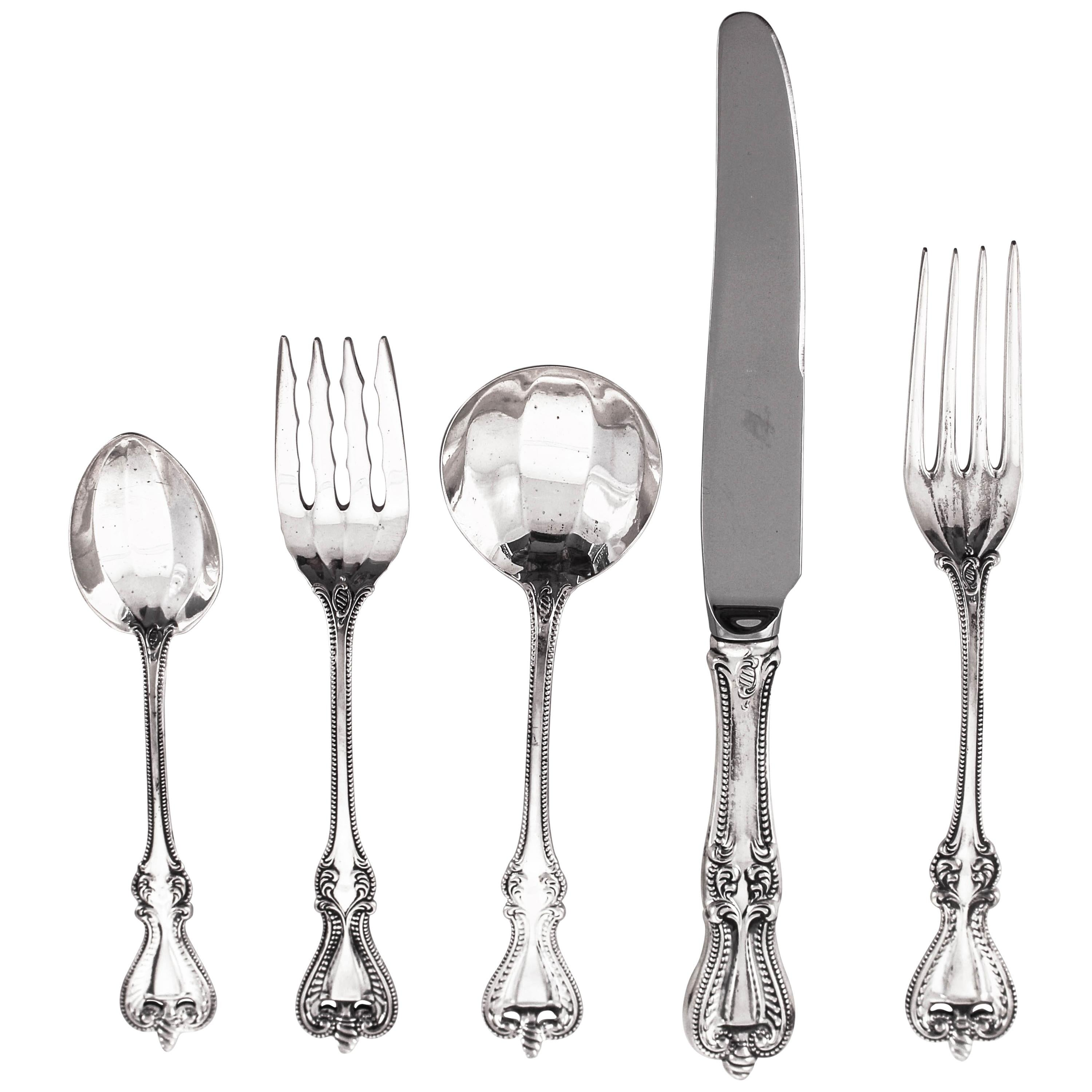 Sterling Flatware, Service for 12/5 Piece Setting