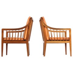 Pair of Classic Midcentury Danish Lounge Chairs, 1940s