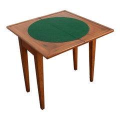 Early 20th Century French Provincial Walnut Fold-Over Games Table