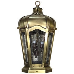 Hand Crafted Solid Brass Hanging Lantern