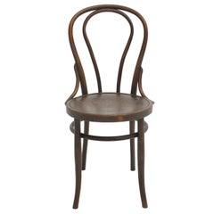 Jugendstil Brown Beech Bentwood Vintage Chair by Mundus Austria, circa 1880