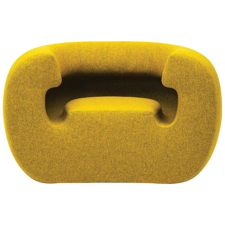 Gufram Roxanne Armchair in Yellow Melange by Michael Young For Sale