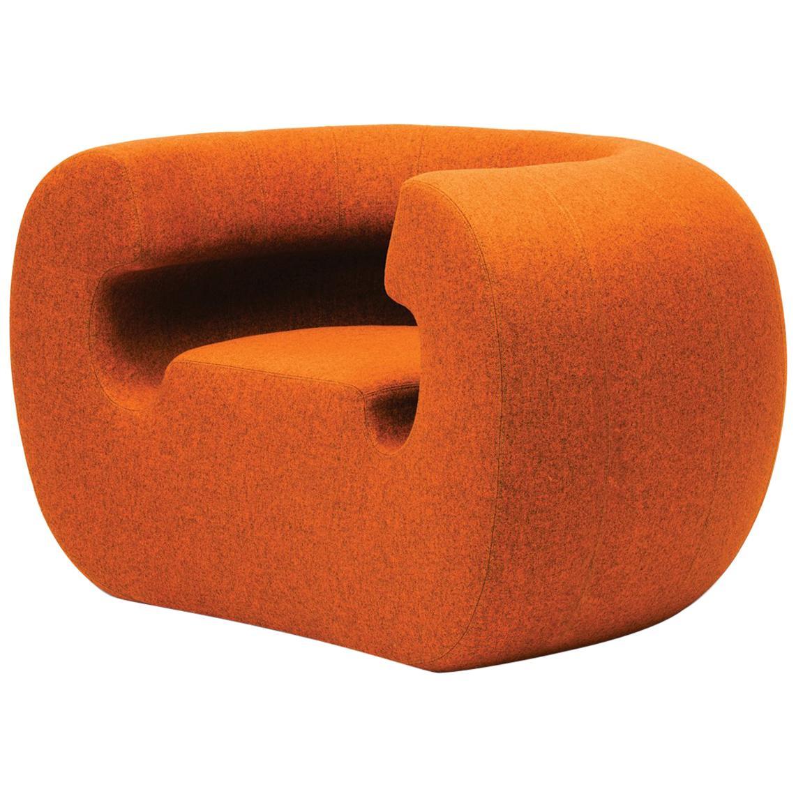 Gufram Roxanne Armchair in Orange Melange by Michael Young