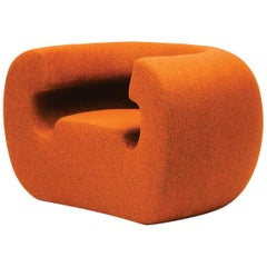 Gufram Roxanne Armchair in Orange Melange by Michael Young