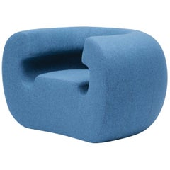 GUFRAM Roxanne Armchair in Blue Melange by Michael Young