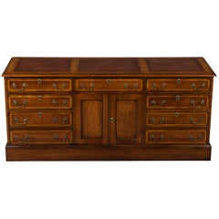 Mahogany Office File Cabinet Credenza with Cabinet Doors