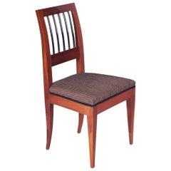 19th Century Austrian Biedermeier Chair, Vien, Yew-Tree, Period 1820-1829