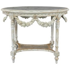 19th Century French Louis XVI Marble-Top Table