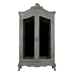 French Louis XV Style Two-Door Display Cabinet