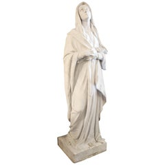 Large Marble Statue of the Virgin Mary