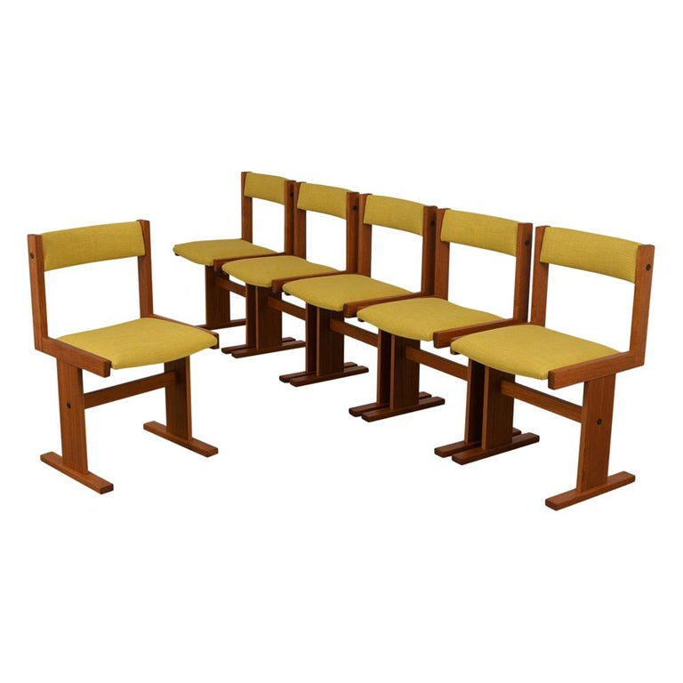Completly Restored Set of Six Poul Hermann Poulsen Midcentury Dinning Chairs For Sale