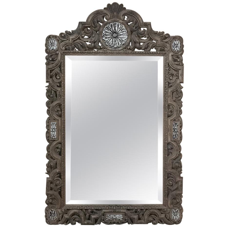 19th Century Renaissance Carved Wood Mirror