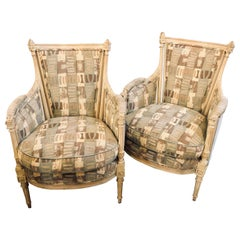 Pair of Hollywood Regency Maison Jansen attrib. Bergere or Armchairs