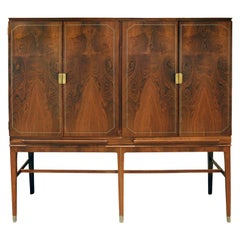 Georg Kofoed Cabinet in Brazilian Rosewood with Inlays, 1930s 'Signed'