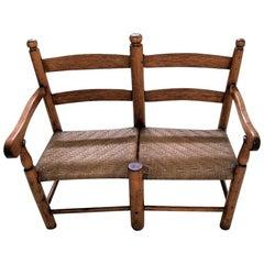19 Century American Pioneer Walnut Wagon Seat
