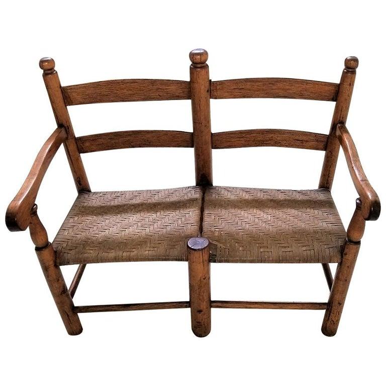 19 Century American Pioneer Walnut Wagon Seat For Sale