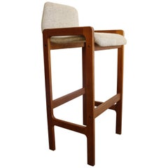 Pair of Danish Teak Barstools