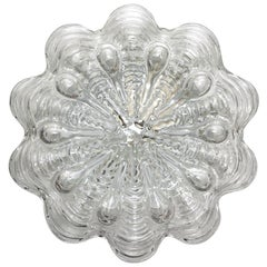 German Vintage Bubble Glass Ceiling or Wall Light Flush Mount, 1960s