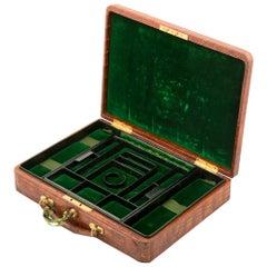 Crocodile Jewelry Case by Drew & Sons, English, circa 1900