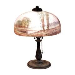 Handel Boudoir Reverse or Inside Painted Lamp