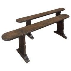Pair 18th Century Rustic Benches