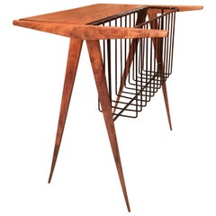 Arthur Umanoff Magazine Rack and Table