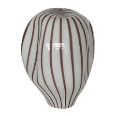 Lino Tagliapietra Murano Glass Striped Balloon Table Lamp for Effetre