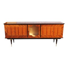 French Vintage Macassar Bony Sideboard or Buffet, circa 1940s