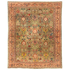 Antique Persian Sultanabad in Soft Green