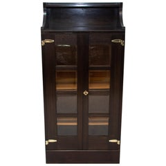 Antique Viennese Secession Library Cabinet in Oak, 1910
